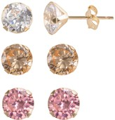 Swarovski Renaissance Collection 10k Gold 5 2/5-ct. T.W. Stud Earring Set - Made with Zirconia