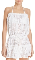 Milly Becca Strapless Crochet Swim Cover-Up