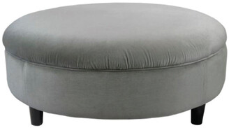 Darcy And Duke Pebble Grey Velvet Ottoman Extra Large