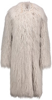 Stella McCartney Thelma faux fur and wool-blend coat