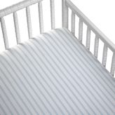 CoCalo Striped Fitted Crib Sheet in Blue