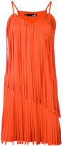 Love Moschino pleated trim dress - women - Cotton/Polyester - 38