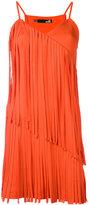 Love Moschino pleated trim dress - women - Cotton/Polyester - 40