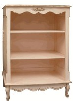 The Well Appointed House Small French Bookcase with Applied Moulding in Versailles Pink