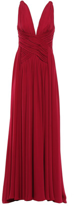 ZUHAIR MURAD Knotted Pleated Silk-crepe Gown