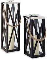 Cambridge Silversmiths Showcase Lantern Candle Holder in Nickel