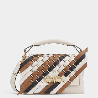 Anya Hindmarch Mini Woven Rope Bow Bag
