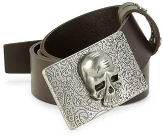 Robert Graham Skull Leather Belt