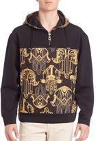 Versace Long Sleeve Printed Hoodie