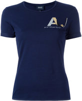 Armani Jeans chest logo print T-shirt - women - Cotton/Spandex/Elastane - 44