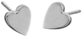 Jennifer Meyer Heart Stud Earrings - White Gold