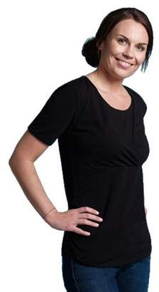Carriwell Kaj Short Sleeve Nursing and Maternity Top (Small)