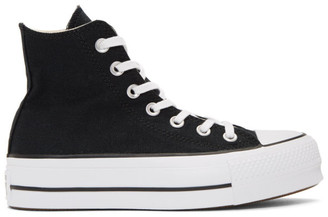 Converse Black Chuck Taylor All Star Lift High Top Platform Sneakers