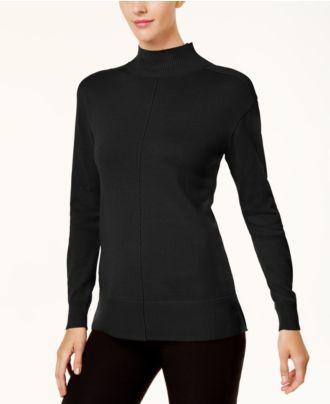 Karen Scott Mock-Neck Sweater, Created for Macy's