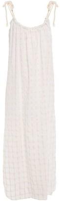 Mara Hoffman Checked Cotton-gauze Coverup