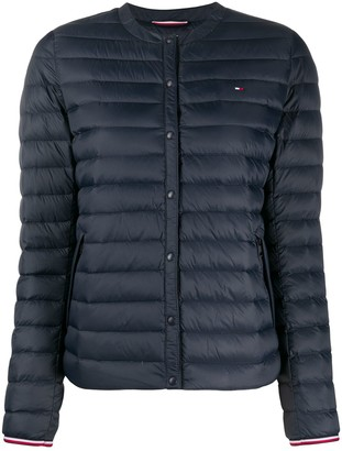 Tommy Hilfiger Collarless Quilted Jacket