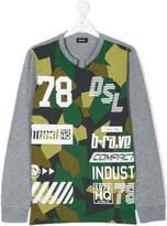 Diesel camouflage printed top