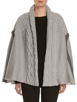 Burberry Cable-Knit Panelled Poncho