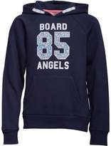 Board Angels Girls Hoody With Floral 85 Print Navy