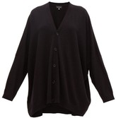eskandar Wide V-neck Cashmere Cardigan - Womens - Black