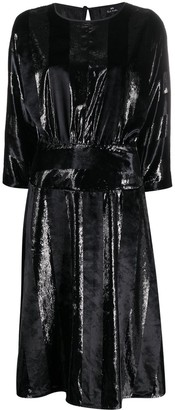 Paul Smith Metallic Pleated Dress