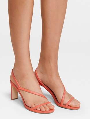 Forever New Amy Strappy Mid-Block Heel - Coral - 36