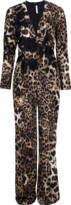 Naeem Khan Animal Print Jumpsuit