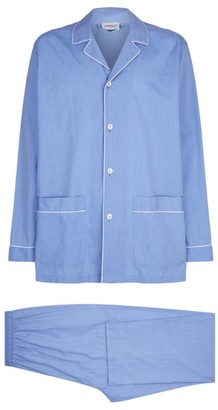 Zimmerli Cotton Long-Sleeve Pyjama Set