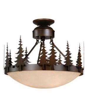 Vaxcel Yosemite Amber Glass Rustic Tree Semi-Flush Mount Light or Pendant