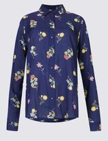 Marks and Spencer Pure Modal Floral Print Long Sleeve Shirt