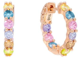 Adina's Jewels Pastel Rainbow Huggie Earrings
