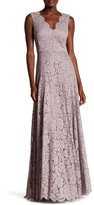 Vera Wang Double V Lace Gown