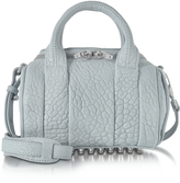 Alexander Wang Mini Rockie Powder Blue Pebbled Leather Satchel