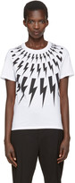 Neil Barrett White Thunderbolt T-shirt