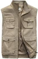 EYouth Mens Pockets Jacket Outdoors Travels Sports Vest Tops