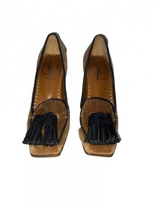 Saint Laurent Brown Velvet Heels