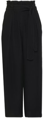 Forte Forte Forte_forte Belted Ruffle-trimmed Crepe Wide-leg Pants