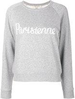 MAISON KITSUNÉ Parisienne print sweatshirt - women - Cotton - XS