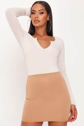 I SAW IT FIRST Sand Scuba Mini Skirt