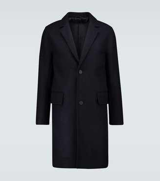 Officine Generale Mat double wool coat