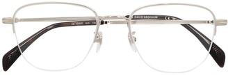 David Beckham Semi-Rimless Rectangular Frame Glasses