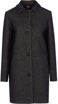 A.P.C. Atelier de Production et de Création - Rooney Metallic Wool-blend Coat - Midnight blue