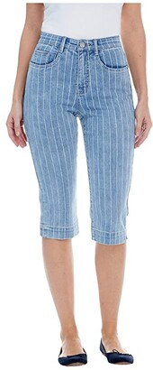 FDJ French Dressing Jeans Printed Denim Suzanne Pedal Pusher in Denim (Denim) Women's Jeans
