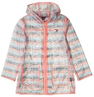 Tommy Hilfiger Translucent Raincoat (Big Kids) (Sugar Coral) Girl's Clothing
