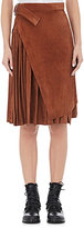 Off-White Women's Foldover-Layer Pleated Skirt-TAN