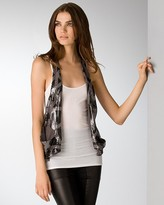 Rozae by Rozae Nichols Abstract Sequined Vest
