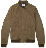 A.P.C. + Louis W The Ferris Suede Bomber Jacket - Green