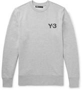Y-3 Slim-fit Printed Loopback Cotton-jersey Sweatshirt - Light gray