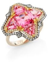 Ivy Diamond & Pink Spinel Quatrefoil Ring