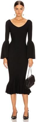 Stella McCartney Peplum Midi Dress in Black   FWRD